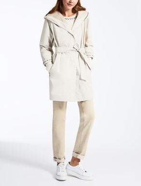 Drop-proof satin duster coat
