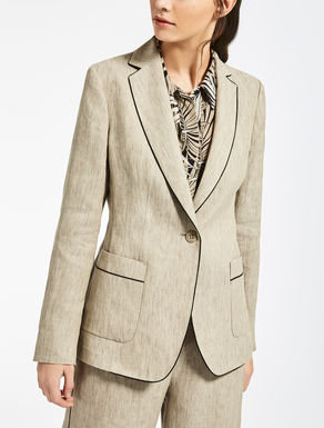 Ramie and linen jacket