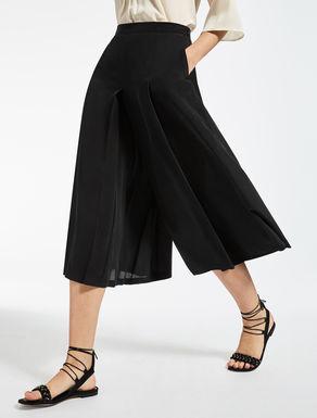 Falda pantalón crepé de China de seda