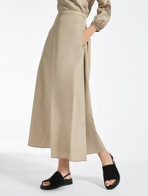 コットン ポプリンロング スカート