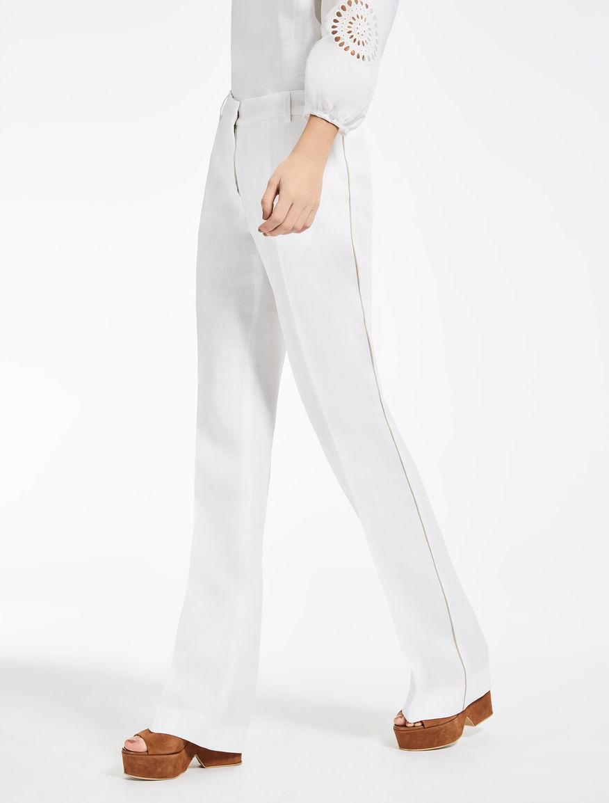 Pantaloni in ramiè e lino