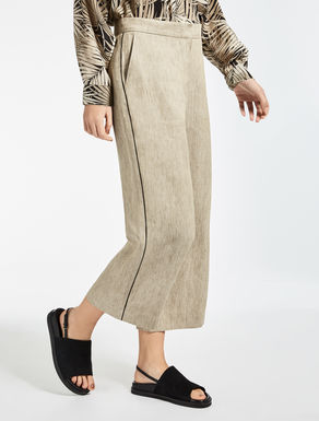 Ramie and linen trousers