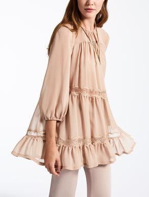 Blusa de georgette de seda
