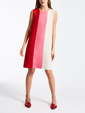 Viscose and linen twill dress