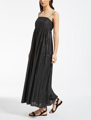 コットン ストライプマキシ ドレス