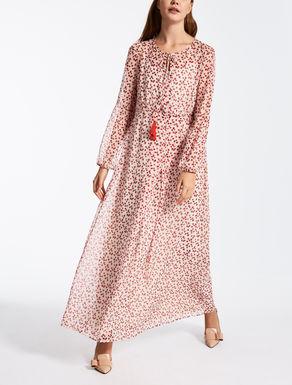ピュア シルクジョーゼット ドレス