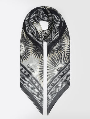 ピュア シルク シフォンプリント スカーフ