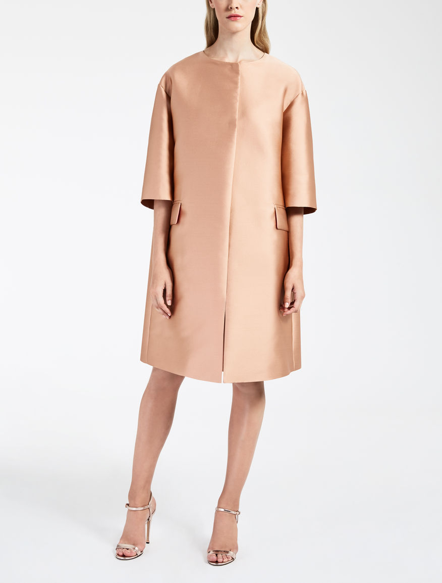 Silk duchesse duster coat