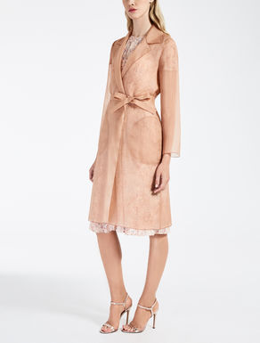 Silk organza duster coat
