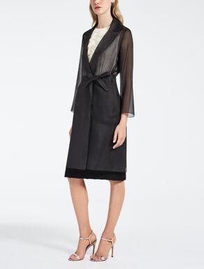 Silk organza duster coat