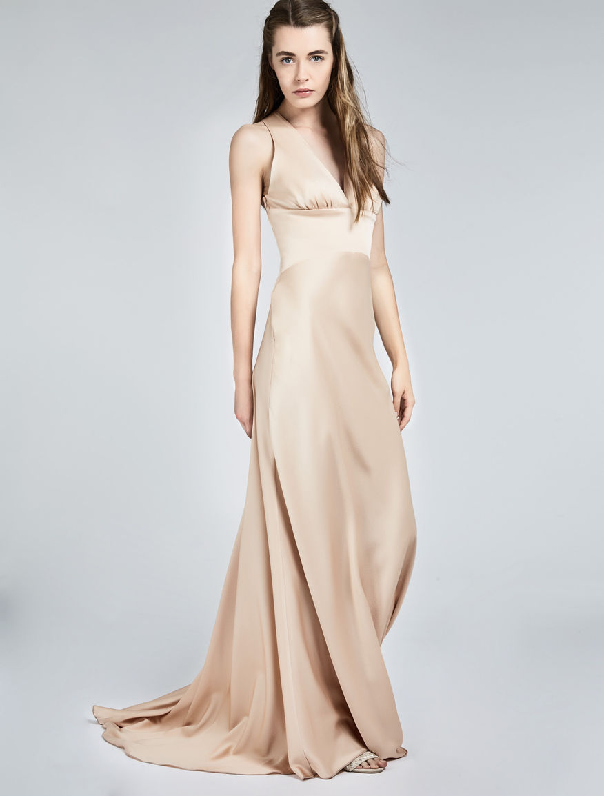Crêpe satin envers dress