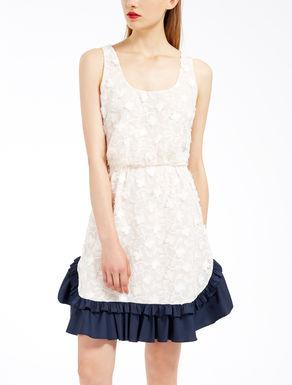 Embroidered chiffon dress