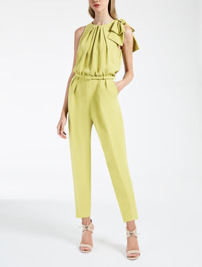 Jumpsuit in silk crêpe satin