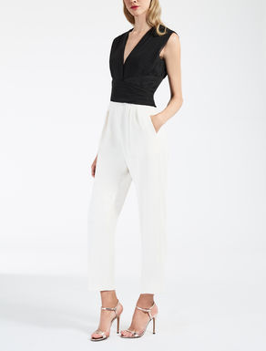 Chiffon and cady jumpsuit