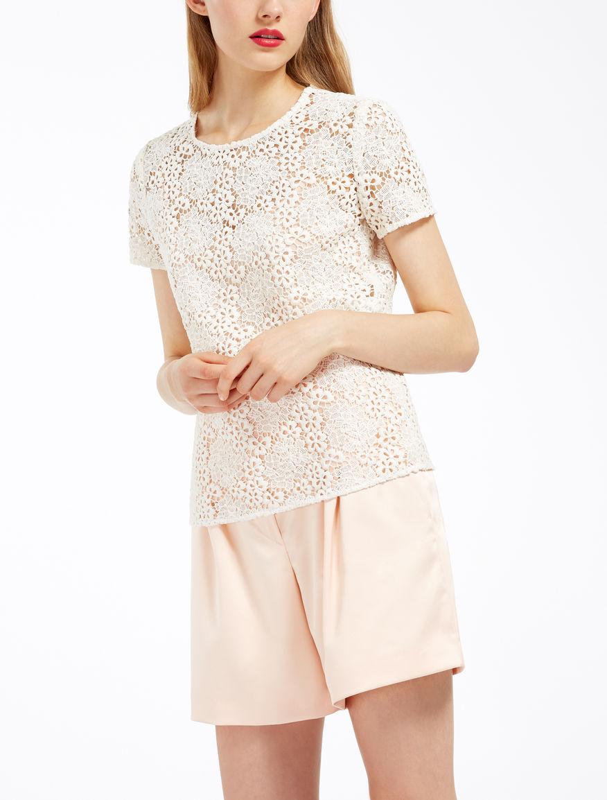 Macramé lace T-shirt