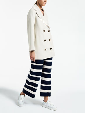 Wool and angora peacoat