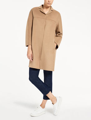 Mantel aus Wolle und Angora