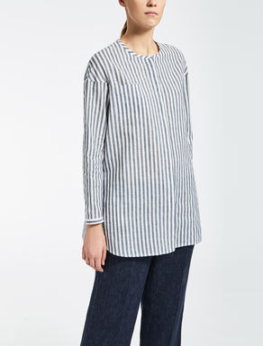Ramie and cotton shirt
