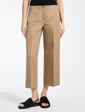 Cotton and ramie trousers