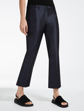 Silk Shantung trousers