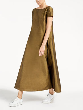 Linen, silk and viscose dress