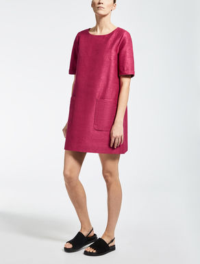 Cotton, ramie and silk dress