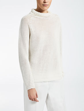 Linen turtleneck jumper