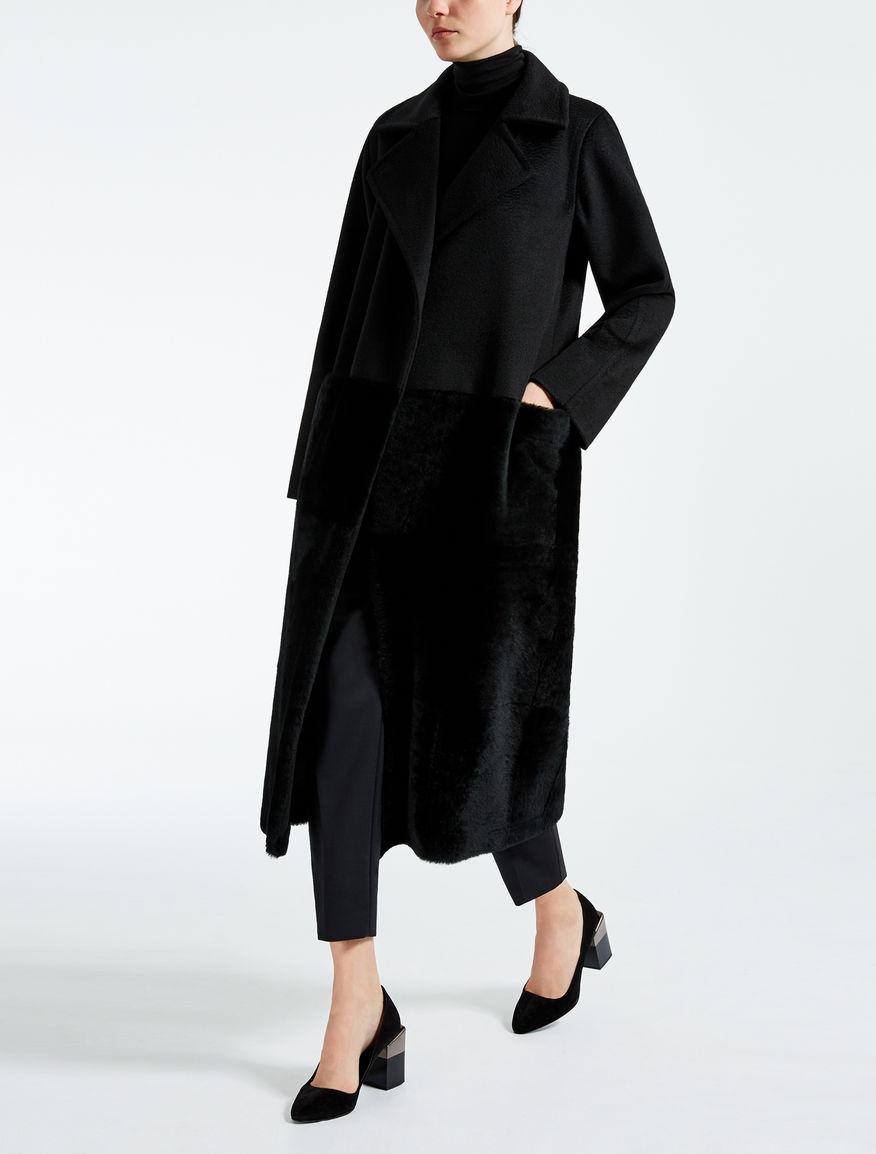 Cappotto in puro cammello