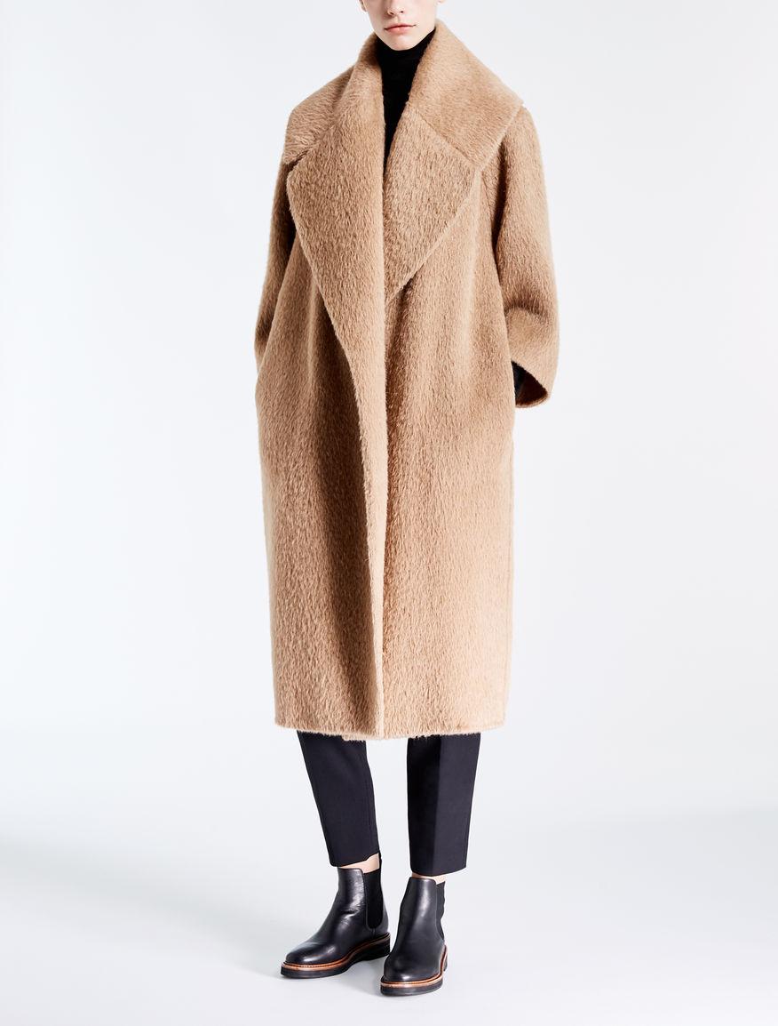 alpaca and wool coat camel edo max mara. Black Bedroom Furniture Sets. Home Design Ideas