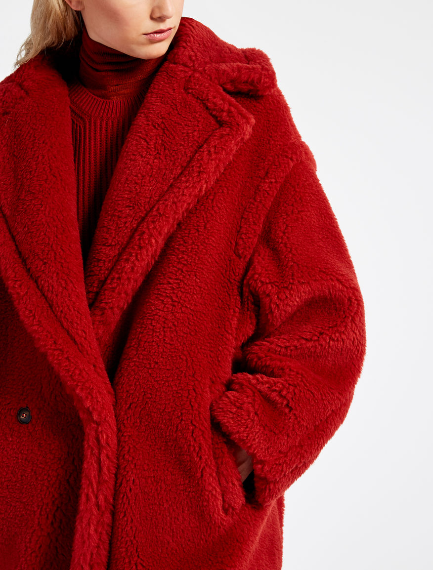 Teddy bear icon coat red pappino max mara - Tedy shop ...