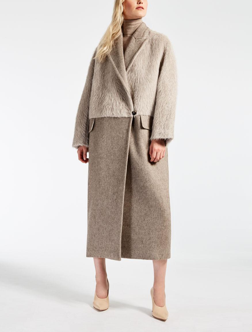 alpaca and wool coat beige pietre max mara. Black Bedroom Furniture Sets. Home Design Ideas