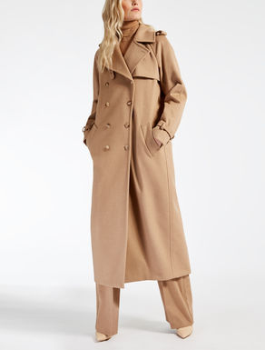 Trench-coat en chameau déperlant