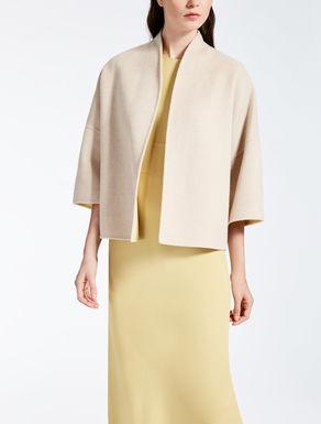 Veste réversible en laine et angora