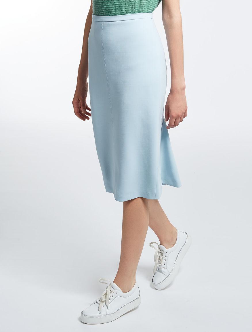 ヴァージンウールストレッチ スカート
