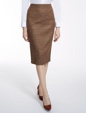 ウール シルクタイト スカート