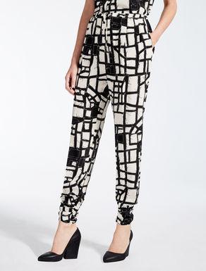 Silk crêpe de chine trousers