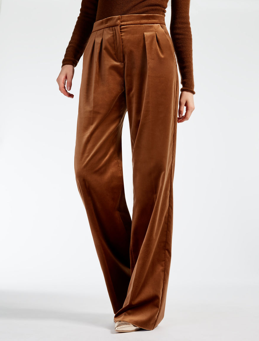 velvet trousers tobacco mantova max mara. Black Bedroom Furniture Sets. Home Design Ideas