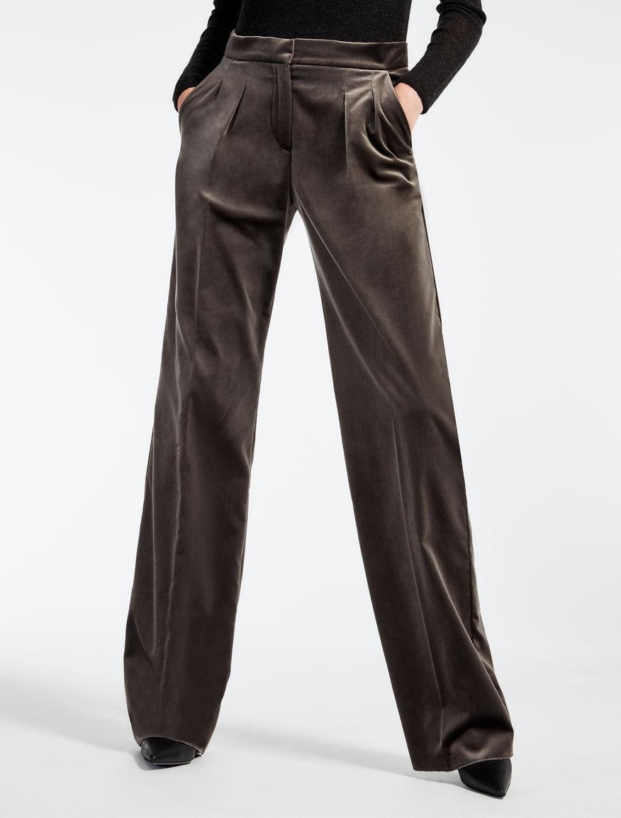 velvet trousers medium grey mantova max mara. Black Bedroom Furniture Sets. Home Design Ideas