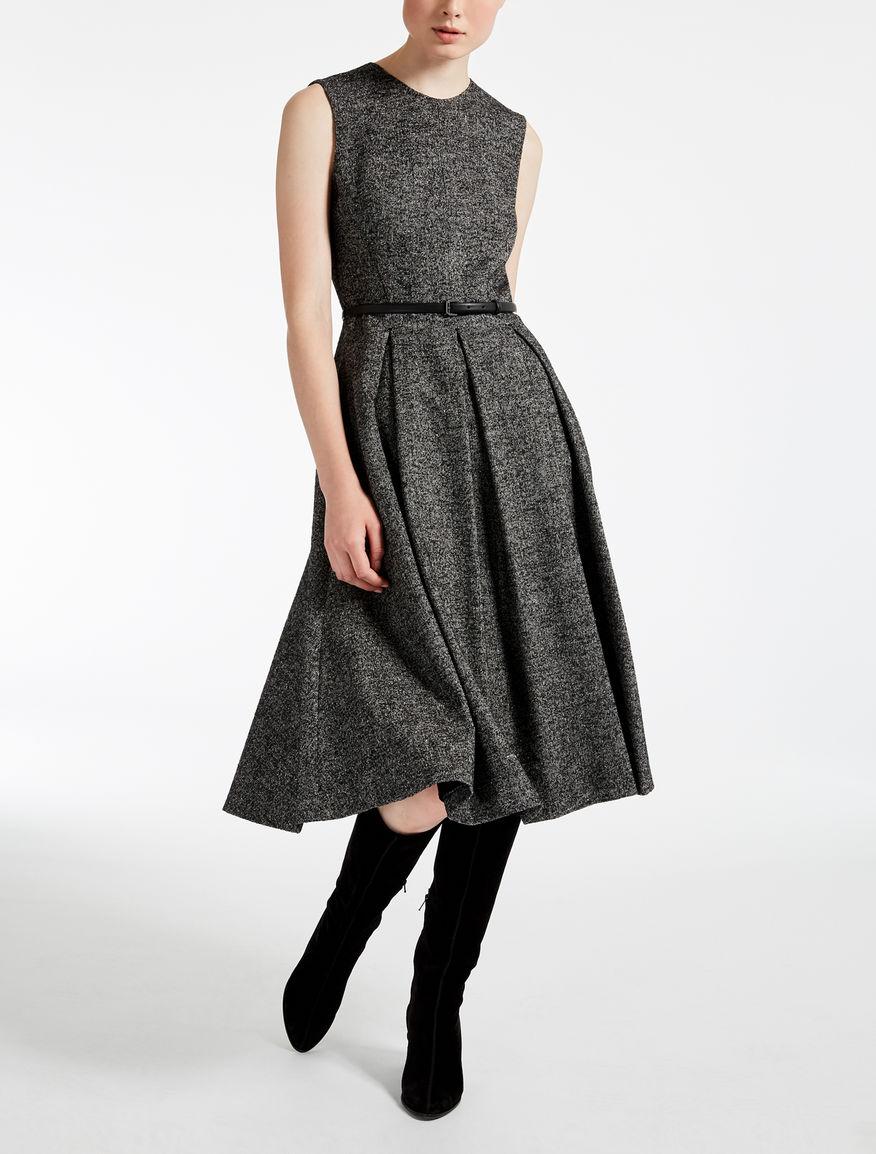 Vestido de tweed de lana