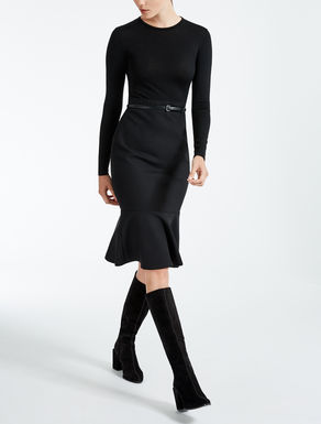 Wool crêpe dress