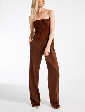 Wool, cashmere and camel jumpsuit