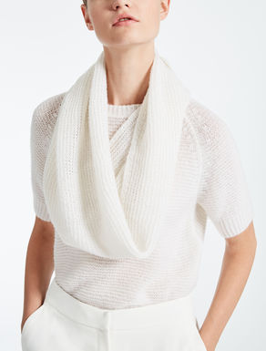 Cashmere and silk infinity scarf
