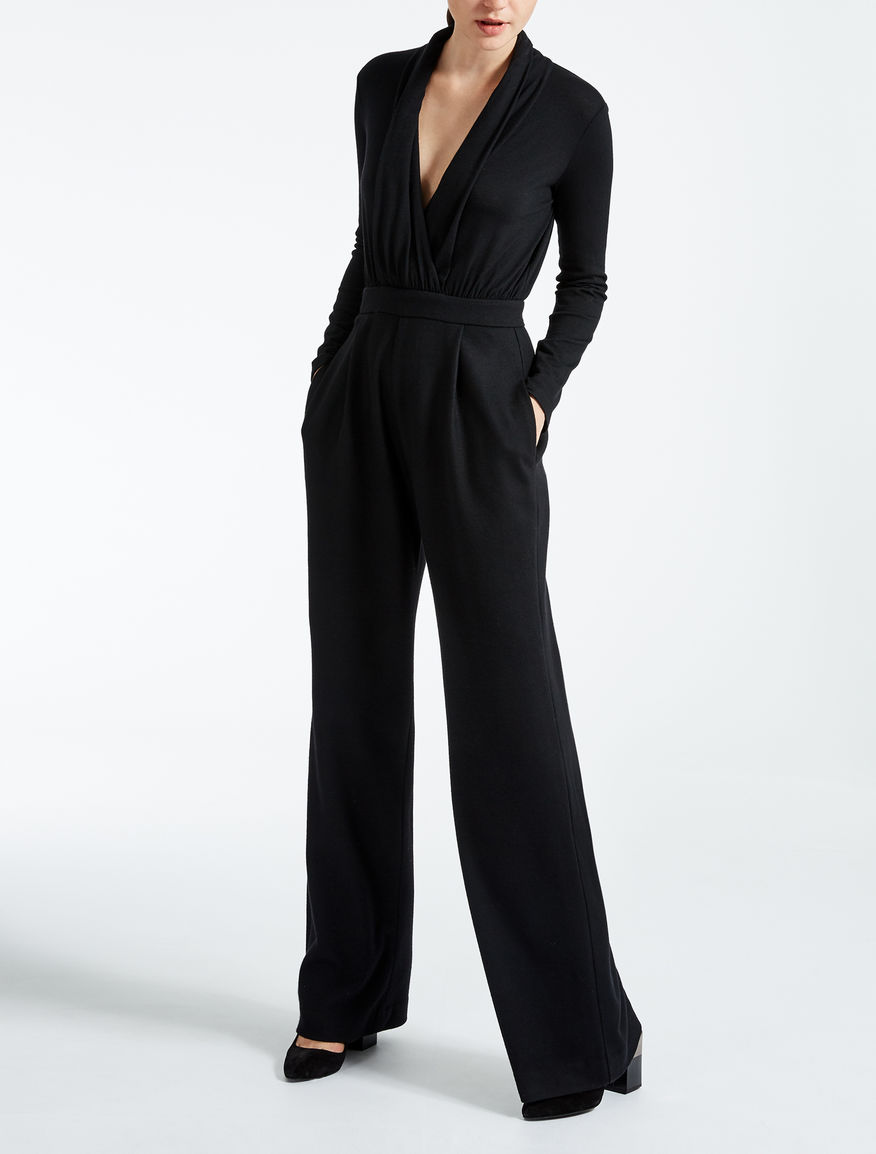 Wool jersey jumpsuit