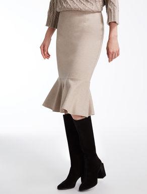 ヴァージンウールジャージー スカート