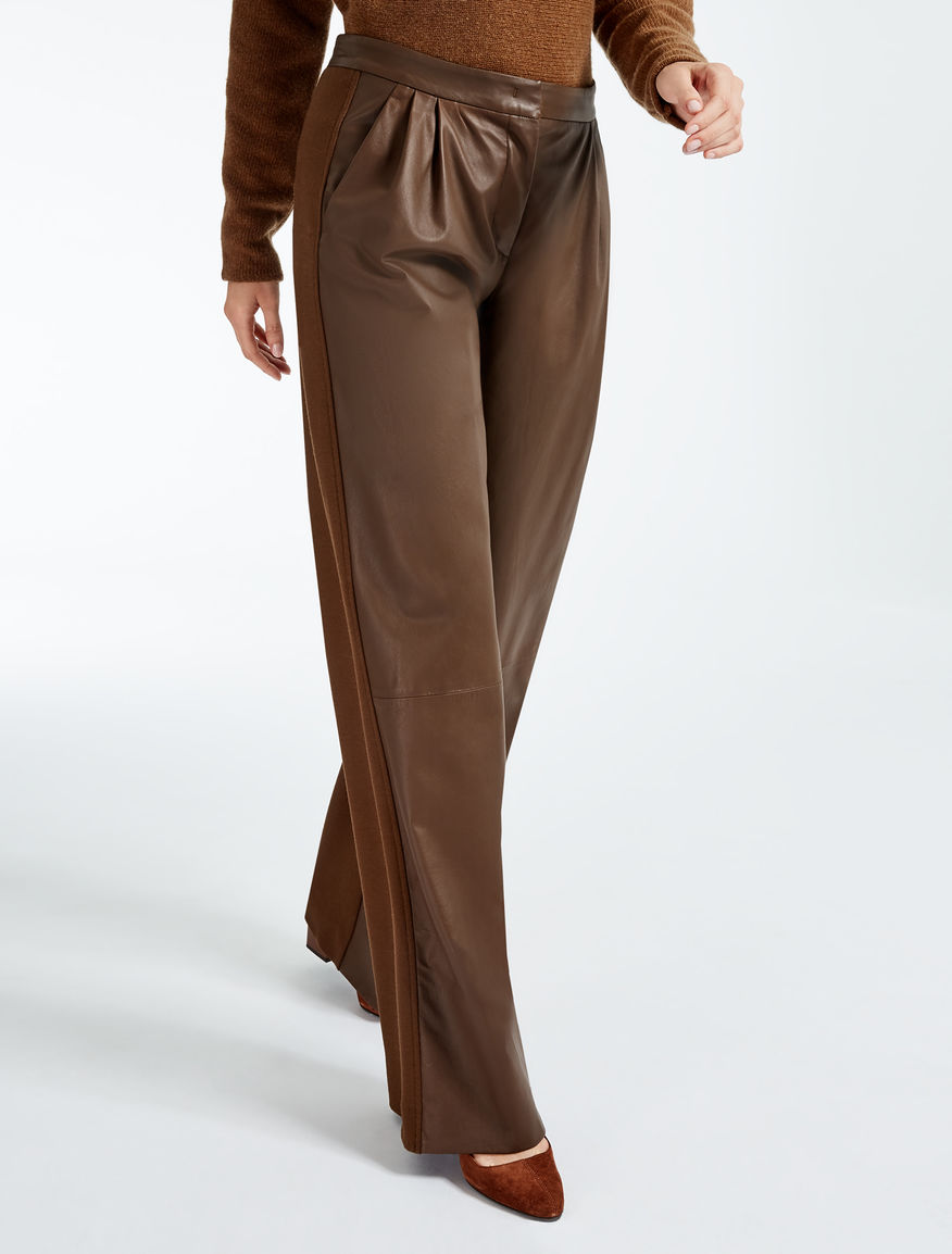 Nappa and jersey trousers