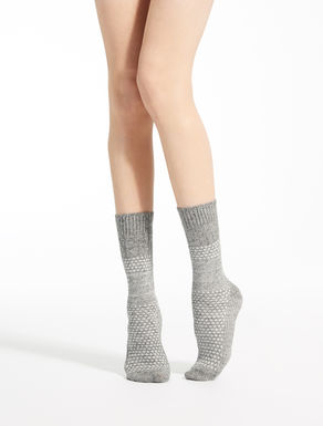 Cashmere and wool socks