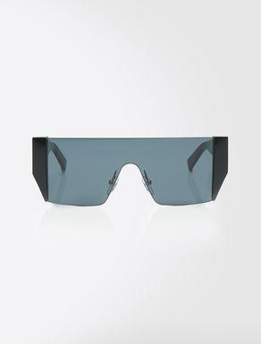 Sonnenbrille mit eckiger Silhouette