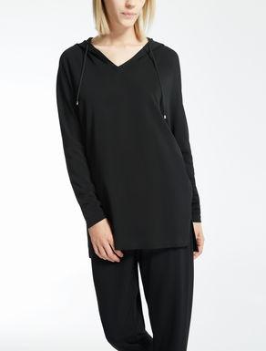 Crêpe jersey blouse
