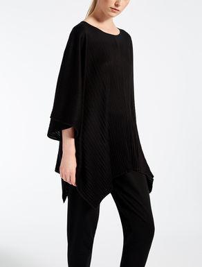 Pleated viscose blouse