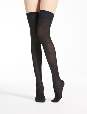 Over-the-knee cotton tights